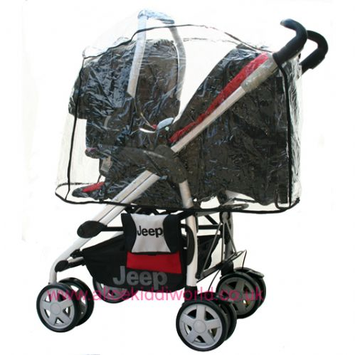 Hauck Universal Rain Cover for 3 wheeler and 4 wheel pushchair travel system